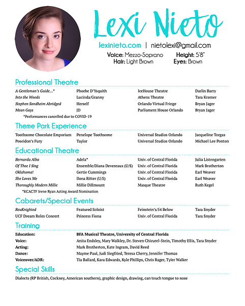Lexi Nieto Theatre Resume 2021 WEBSITE V