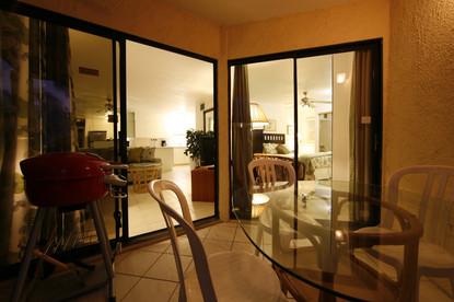 Condo 20 Porch looking at Living room & Bedroom