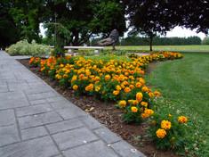 Flower Garden in front of Inn