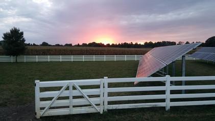 Solar Field at Sunset