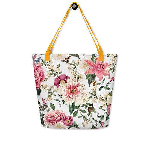 Bees; English Garden Beach Bag