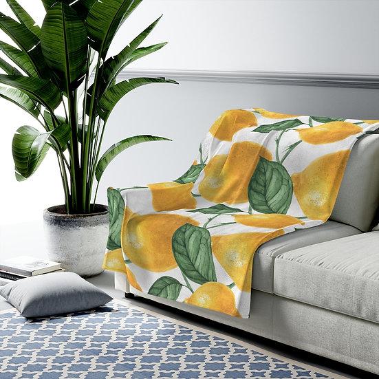 Lemonade Velveteen Plush Blanket