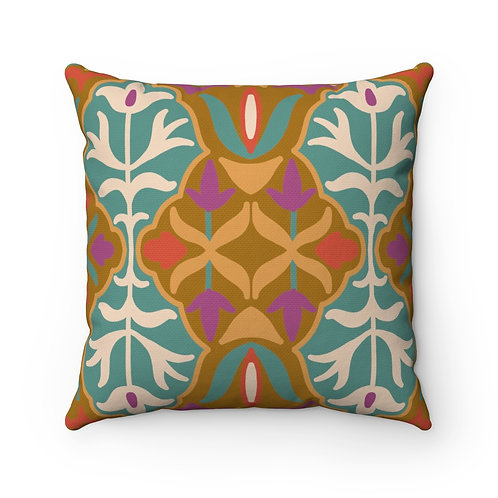 Indian # 4 Spun Polyester Square Pillow