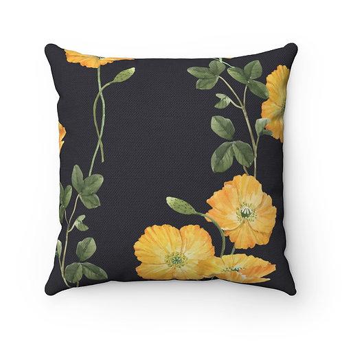 Buttercup Spun Polyester Square Pillow