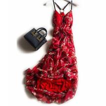 Silk-Dress-Women-Elegant-Beach-Long-Red-