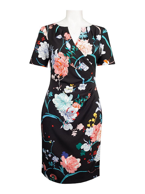 Adrianna Papell Floral Blossom Day Dress
