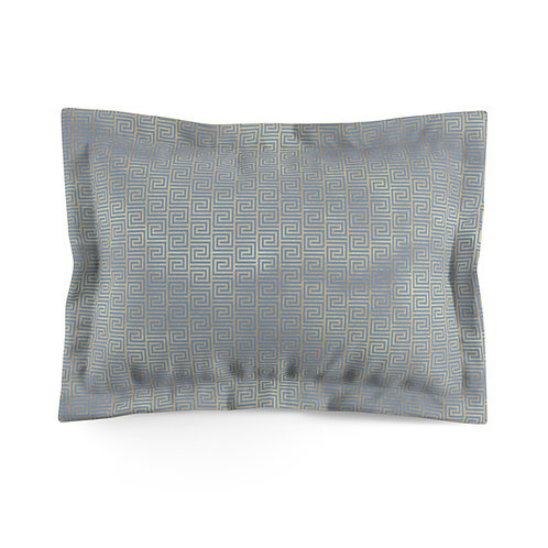 Gold Art Deco Greek/Danube Microfiber Pillow Sham