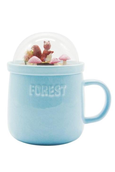 Forest Ceramic Mug - Blue