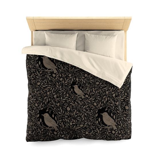 Birds B-(Dark Brown) Microfiber Duvet Cover