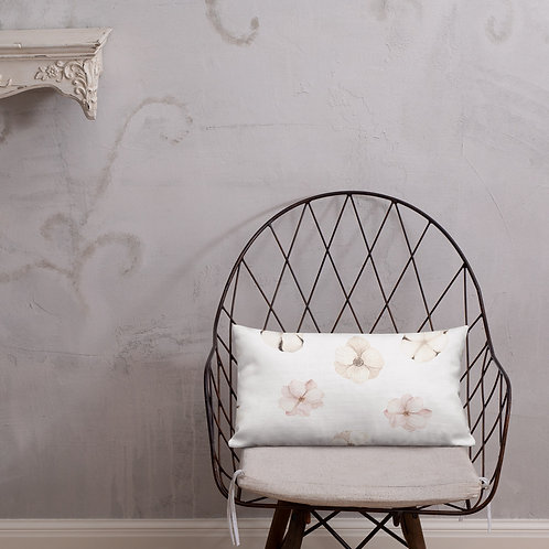 Pastel Single Flowers Premium Pillow