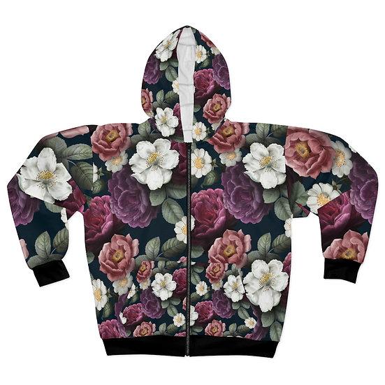 Garden Flowers  Zip Hoodie