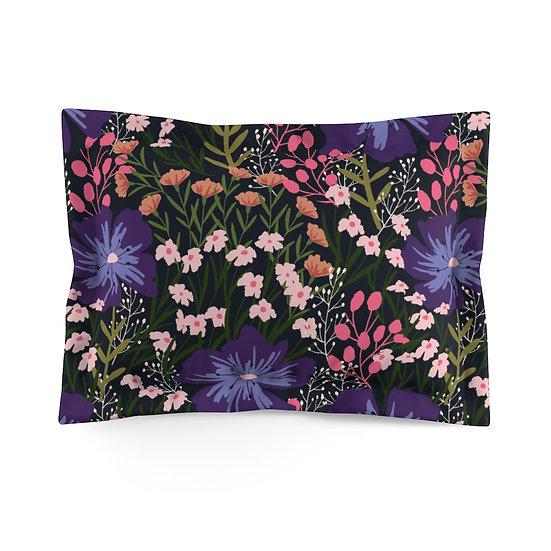 Midnight Garden Microfiber Pillow Sham
