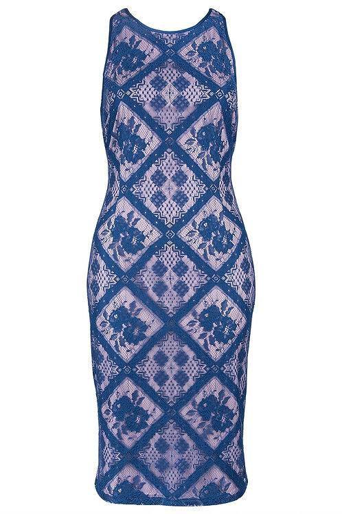 Adrianna Papell Floral Lace Cocktail Dress