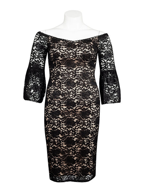 Adrianna Papell (Size 14) Off The Shoulder Lace Dress
