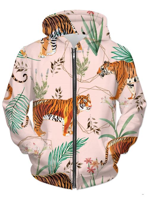 Tropical & Tiger UNISEX ZIP HOODIE