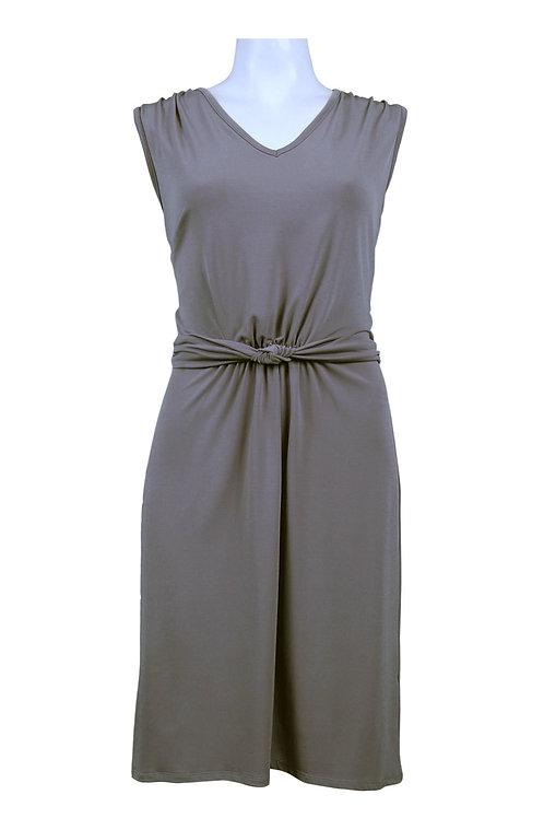 Ellen Tracy Steel Twisted Waist Sheath Dress