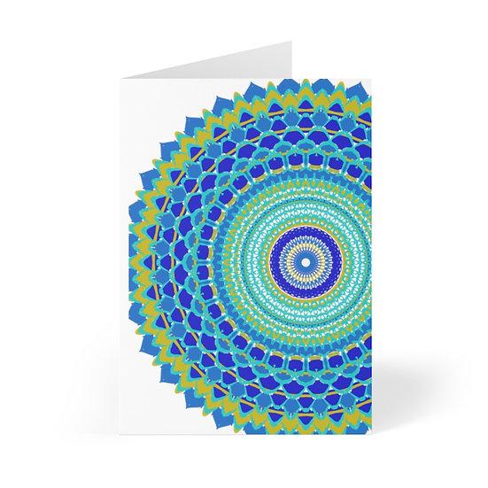 Blues Mandala Greeting Cards (8 pcs)