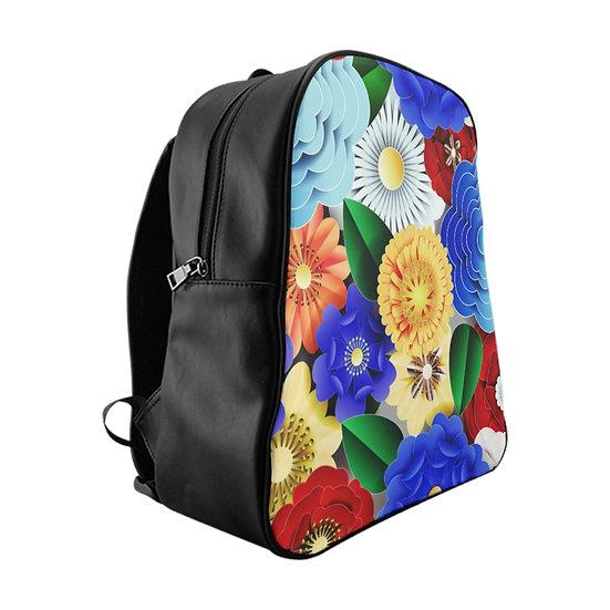 Digital Flowers School Backpack