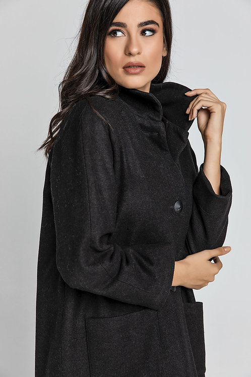 Black Blend  Coat by Conquista