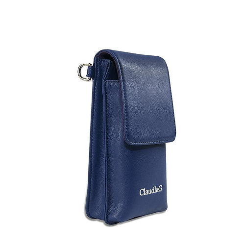 Ibag Leather Cross Body-Sapphire