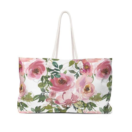 Pink Garden Weekender Bag