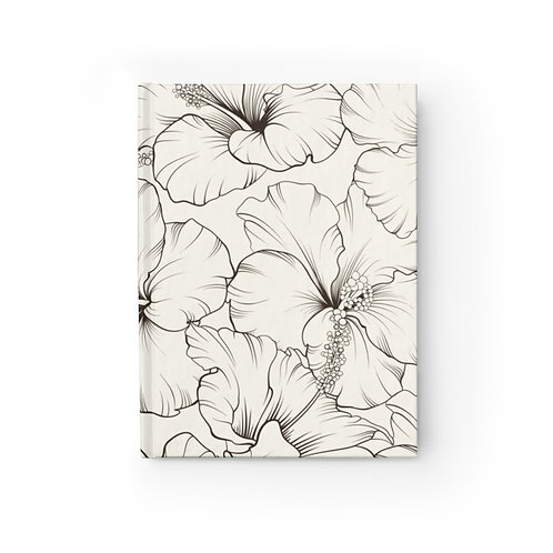 Hibiscus Drawing Journal - Blank