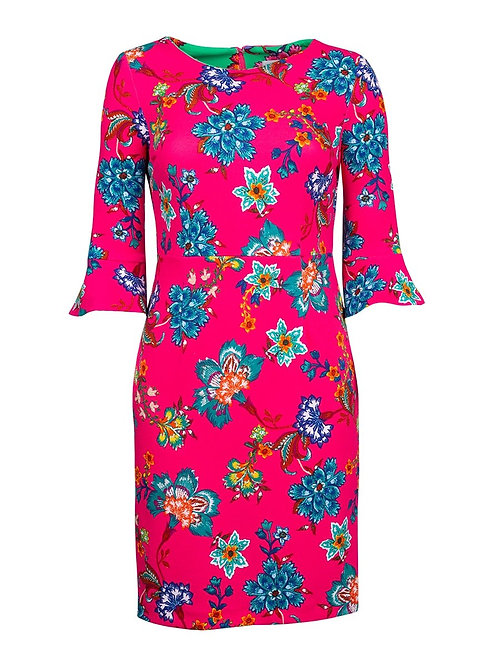 Shelby & Palmer Floral Bell Sleeve Day Dress