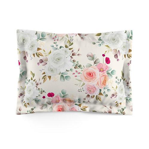Pastel Floral Microfiber Pillow Sham