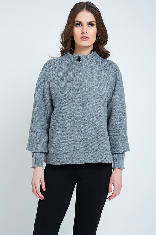 Button Detail Jacket with Elasticated Cuffs