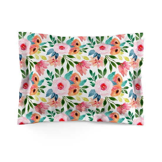 Pink and Peach Microfiber Pillow Sham