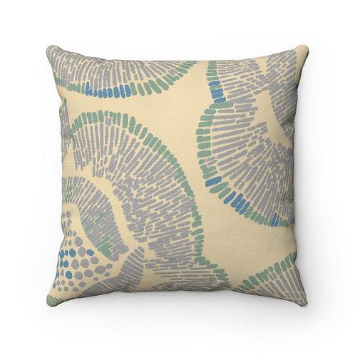 Belinda Creme Spun Polyester Square Pillow