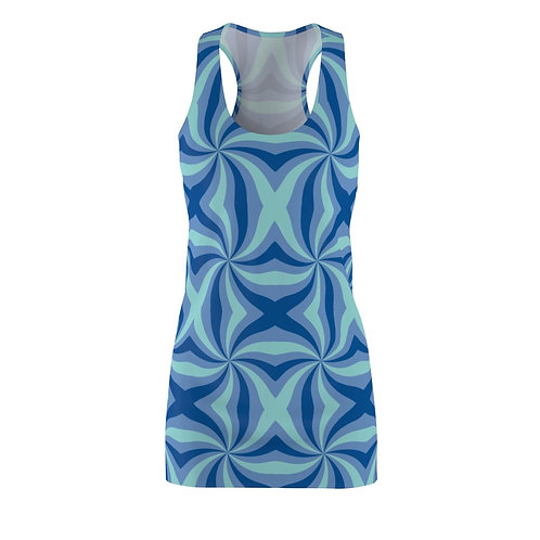 Mod Blue Racerback Dress