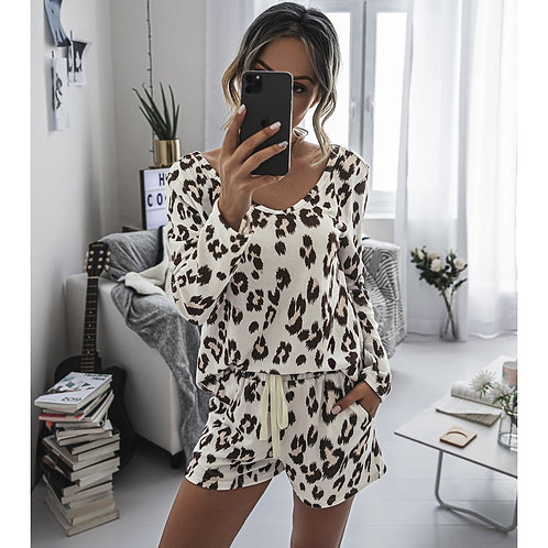 Casual Women's Two Piece Suits Tie Dye Printing Backsuits T-shirt Suit