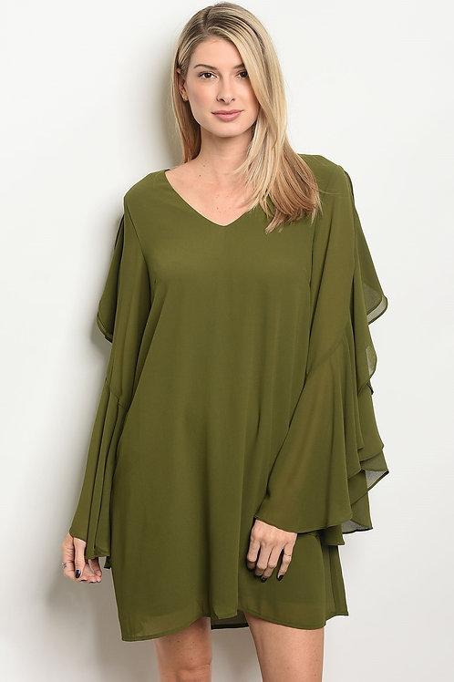 Womens Ruffled Dress