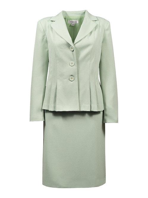 Danillo Sage Green Twill Skirt Suit Sett