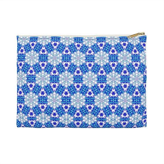 Blue Mandalas Accessory Pouch