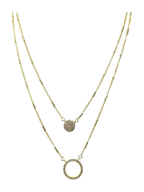 Laconic Style Layered Necklace J04 - 3 Colors