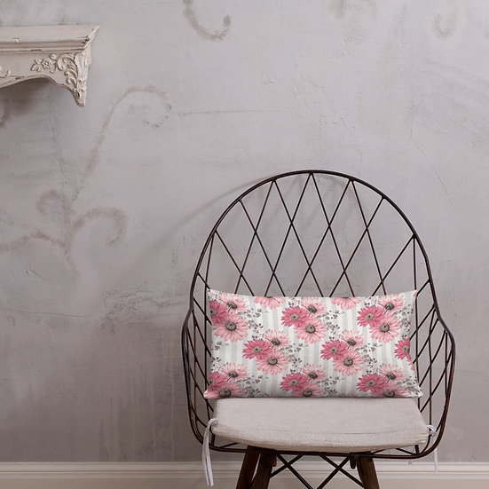 Pink Cascade 2 Premium Pillow