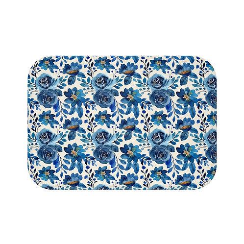 Blue Roses Bath Mat