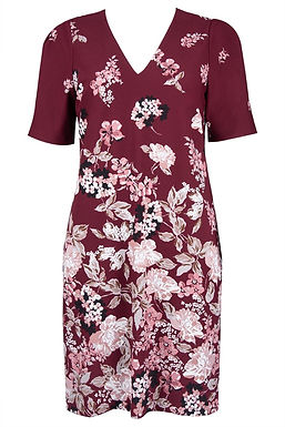Adrianna Papell Short Sleeve Shift Dress