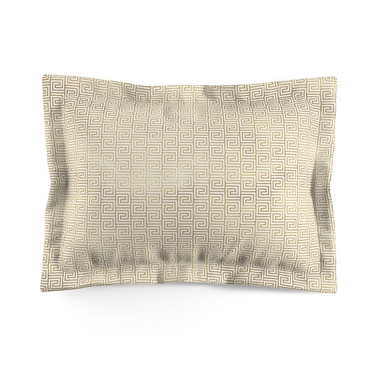 Gold Art Deco Greek Microfiber Pillow Sham