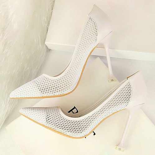 Neted High Heel Pumps