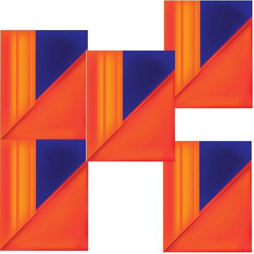 Modern Cubic Microfiber Duvet Cover