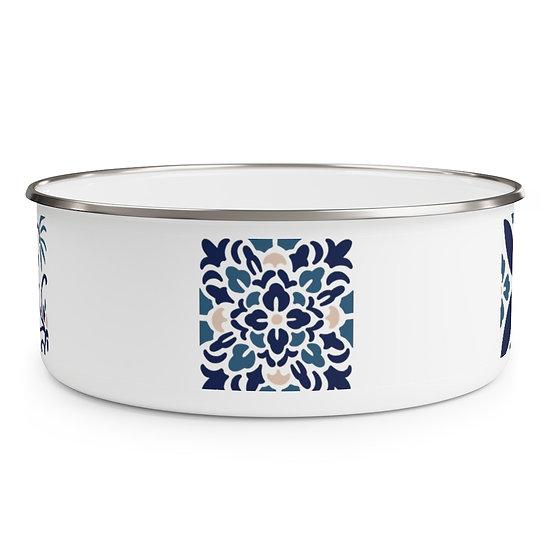 Japanese Design Enamel Bowl