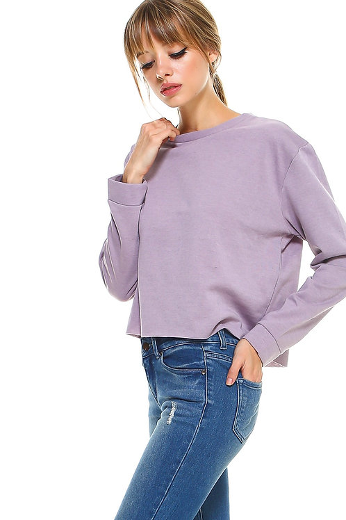 Long Sleeve Lilac  P/O With Red Shimmer Taping