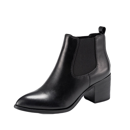 Heeled Pointed toe Thick Heel Chelsea Boots