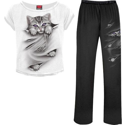 BRIGHT EYES - 4pc Gothic Pyjama Set