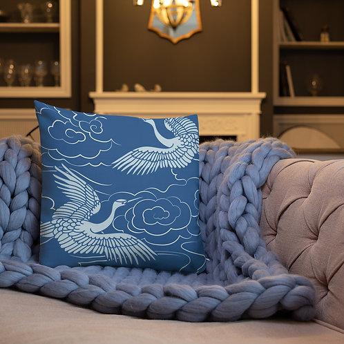 Blue Egret Premium Pillow