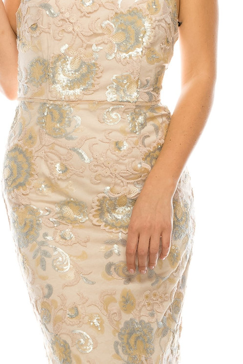 Additional Detail: with Lining, Mixed Sequins, Embroidered Ornament