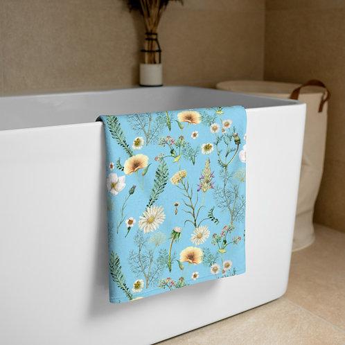 Blue Wild Flowers Towel